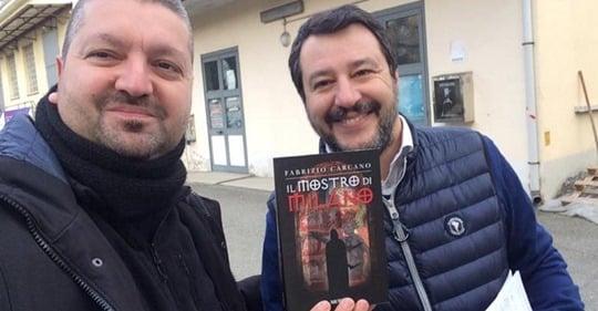 Fabrizio Carcano con Salvini