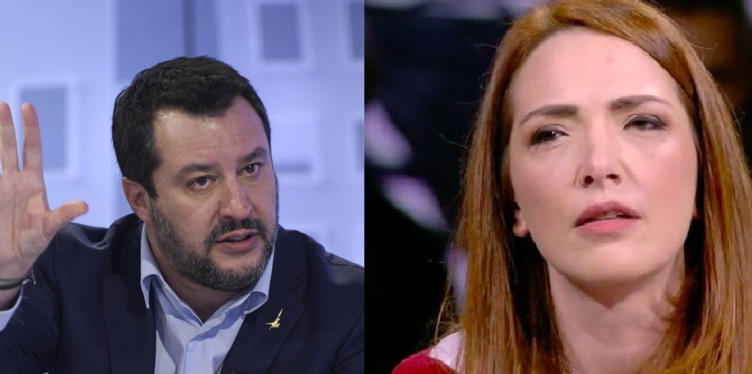 Salvini e Jasmine Cristallo