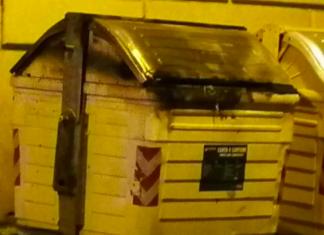 cassonetto bruciato tunisino verona