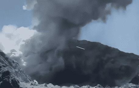 Eruzione di un vulcano in Nuova Zelanda