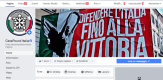 Pagina Facebook di CasaPound