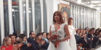 Vladimir Luxuria in abito da sposa