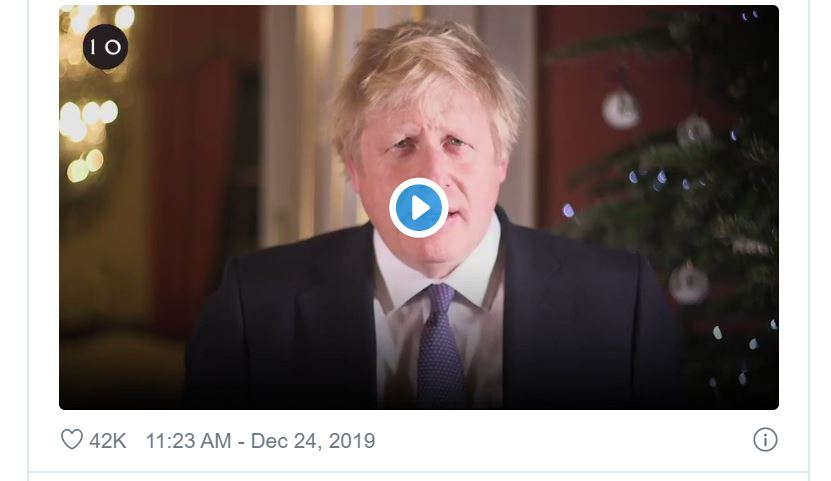 boris johnson, natale