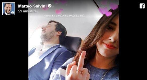 Erika Labbe e Matteo Salvini