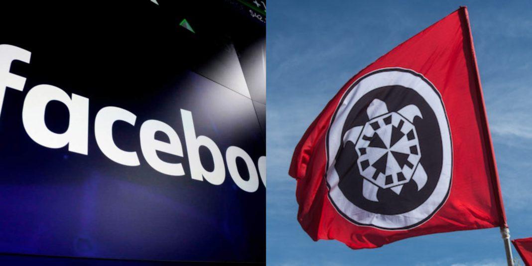 Facebook e bandiera CasaPound
