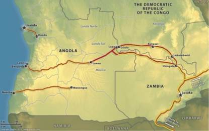 zambia angola oleodotto