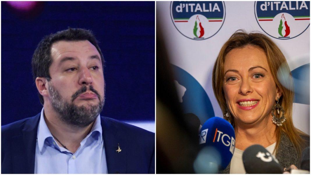 I sondaggi premiano la Meloni, mentre Salvini cala