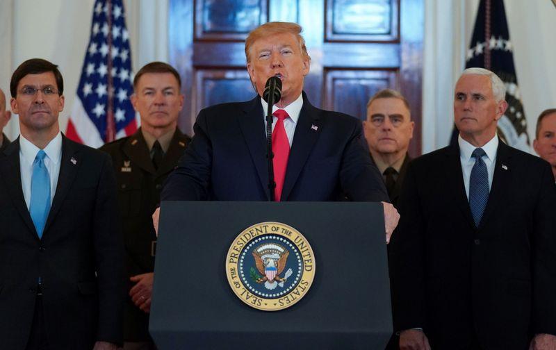 Trump, discorso alla casa bianca