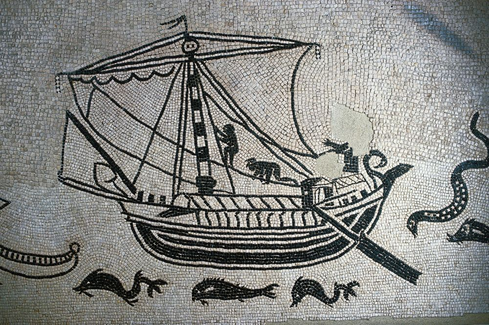 Navigare, mosaico romano a Rimini