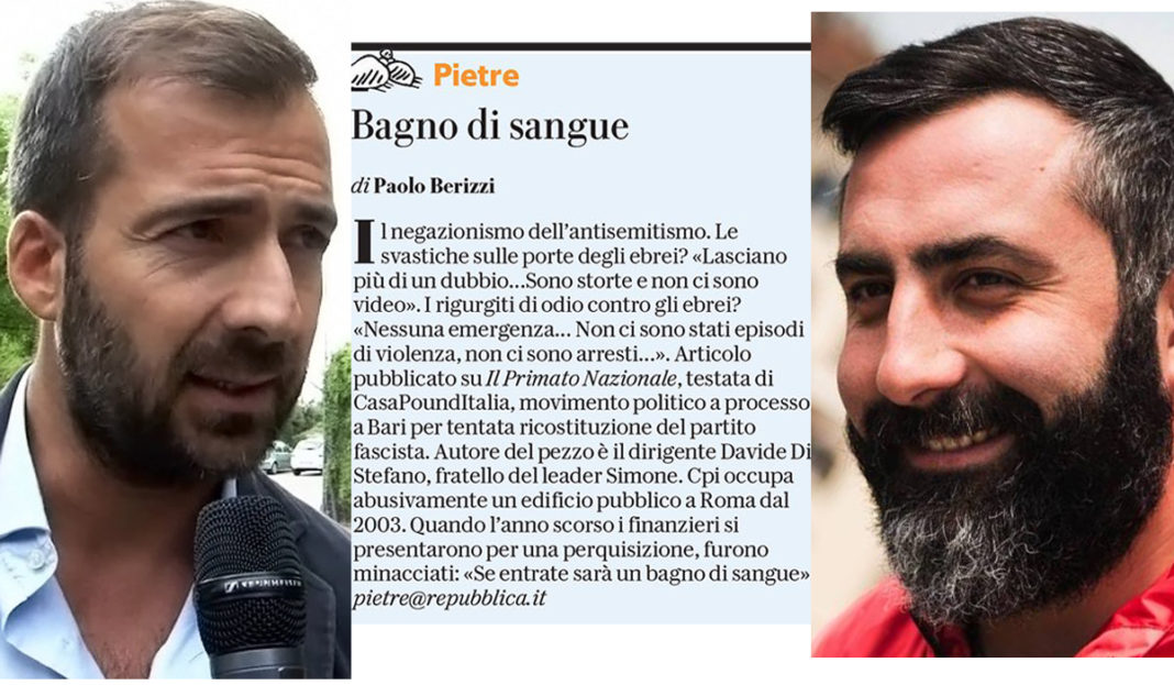 Paolo Berizzi primato naizonale Davide Di Stefano