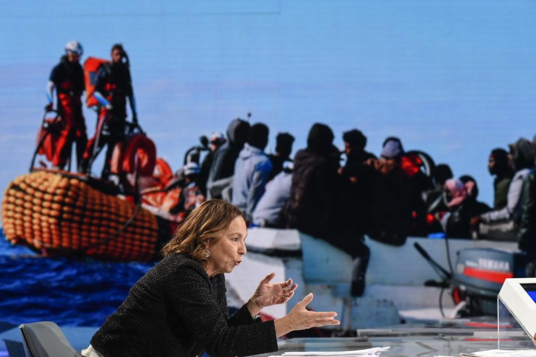 Immigrati sul barcone