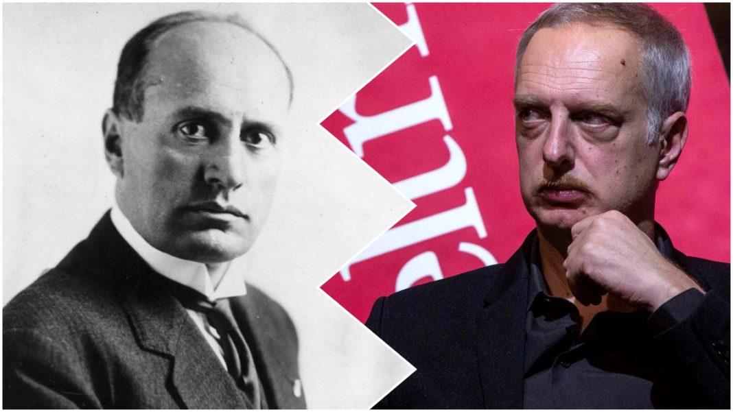 Benito Mussolini e Antonio Scurati