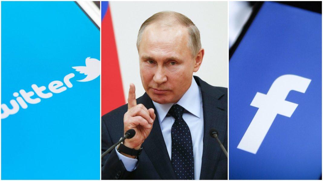 Facebook Twitter e Putin