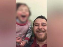 siria papà figlia bombe