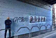 Trento, scritta antifascista