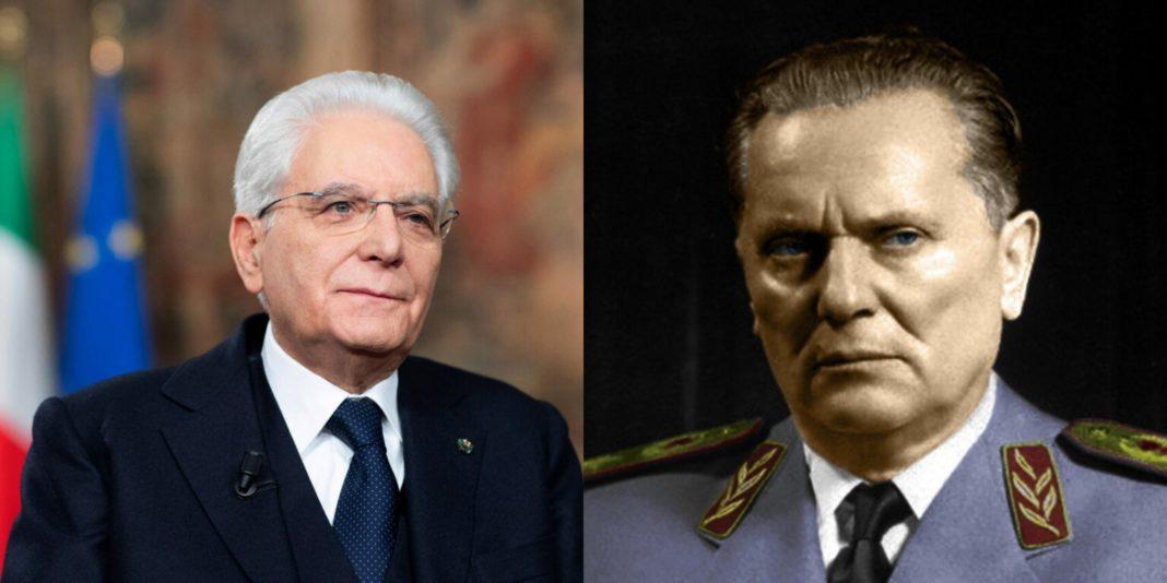 Foibe, Mattarella e Tito