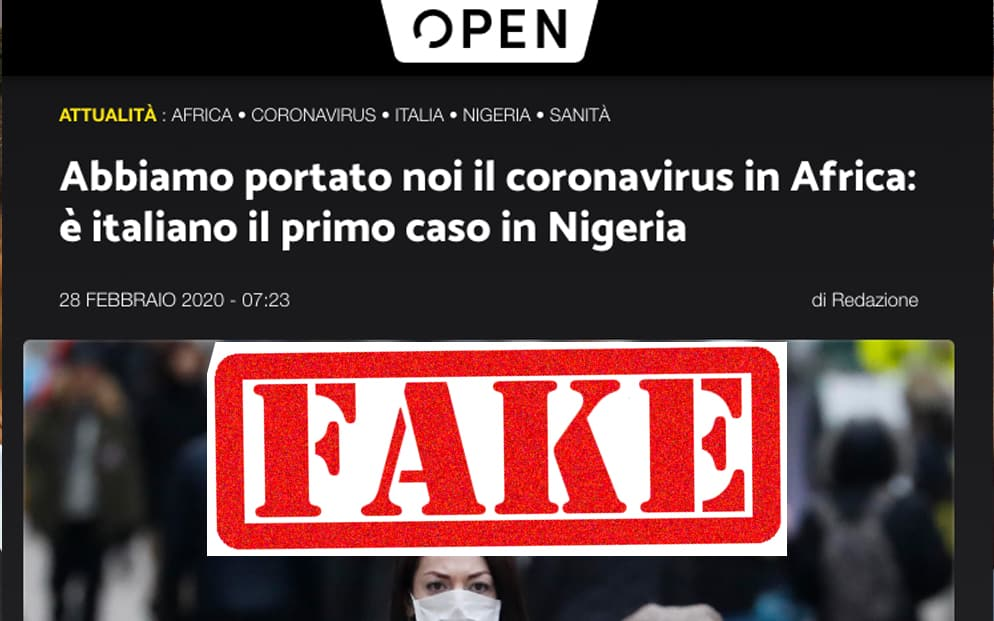 coronavirus africa open fake