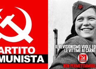 Partito Comunista, locandina Foibe