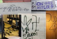 scritte antisemite antisemitismo svastiche