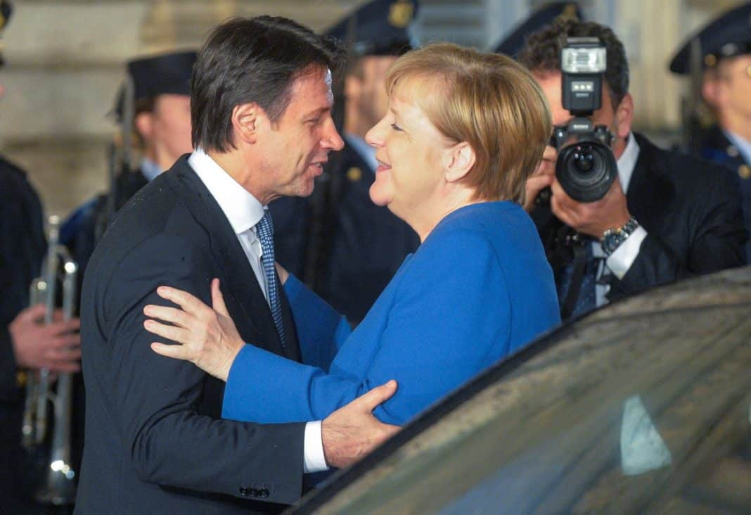 Conte e la Merkel Mes