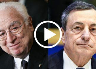 Francesco Cossiga e Mario Draghi