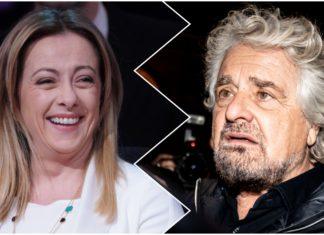 Giorgia Meloni e Beppe Grillo