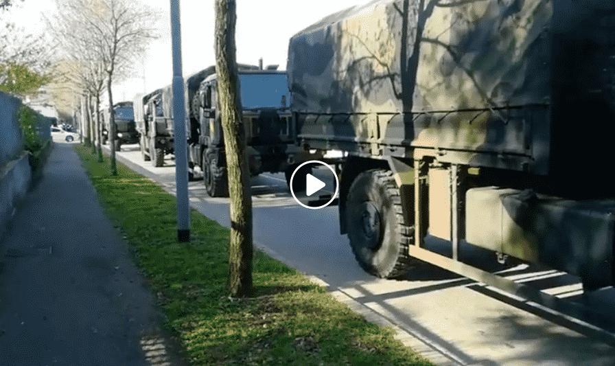 bergamo fila mezzi militari