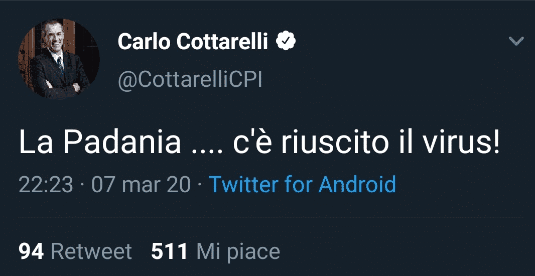 Carlo Cottarelli Tweet