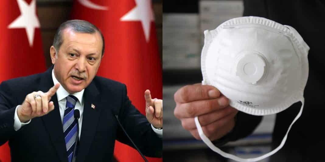 Erdogan, mascherine