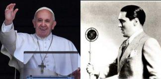 Papa Francesco, con Carlo Buti