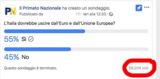 sondaggio primato nazionale ue euro
