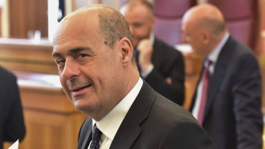 Nicola Zingaretti esulta per Unione Europea