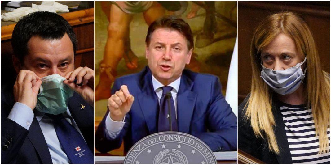 Salvini Conte e Meloni