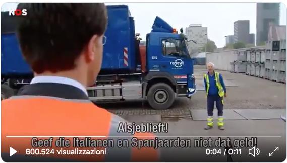 mark rutte italiani soldi