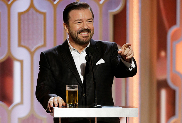 Ricky Gervais contro i vip di Hollywood