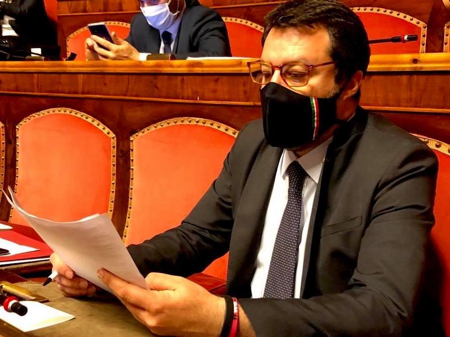 Salvini, in Senato