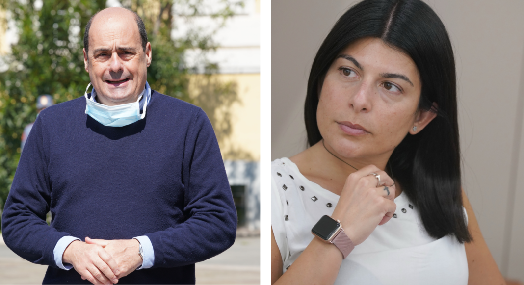 Nicola Zingaretti e Chiara Colosimo, bufera sulle mascherine