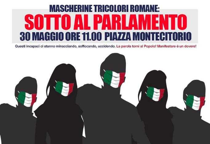 Mascherine Tricolori manifestazioni