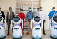 Robot Ruanda anti coronavirus
