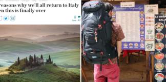 Telegraph per il turismo in Italia