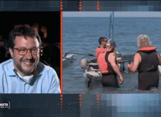Beppe Grillo fugge barca vela