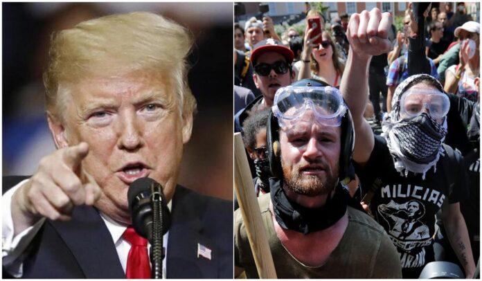 Donald Trump e antifa americani