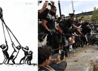 Banksy si schiera con attivisti Black lives matter