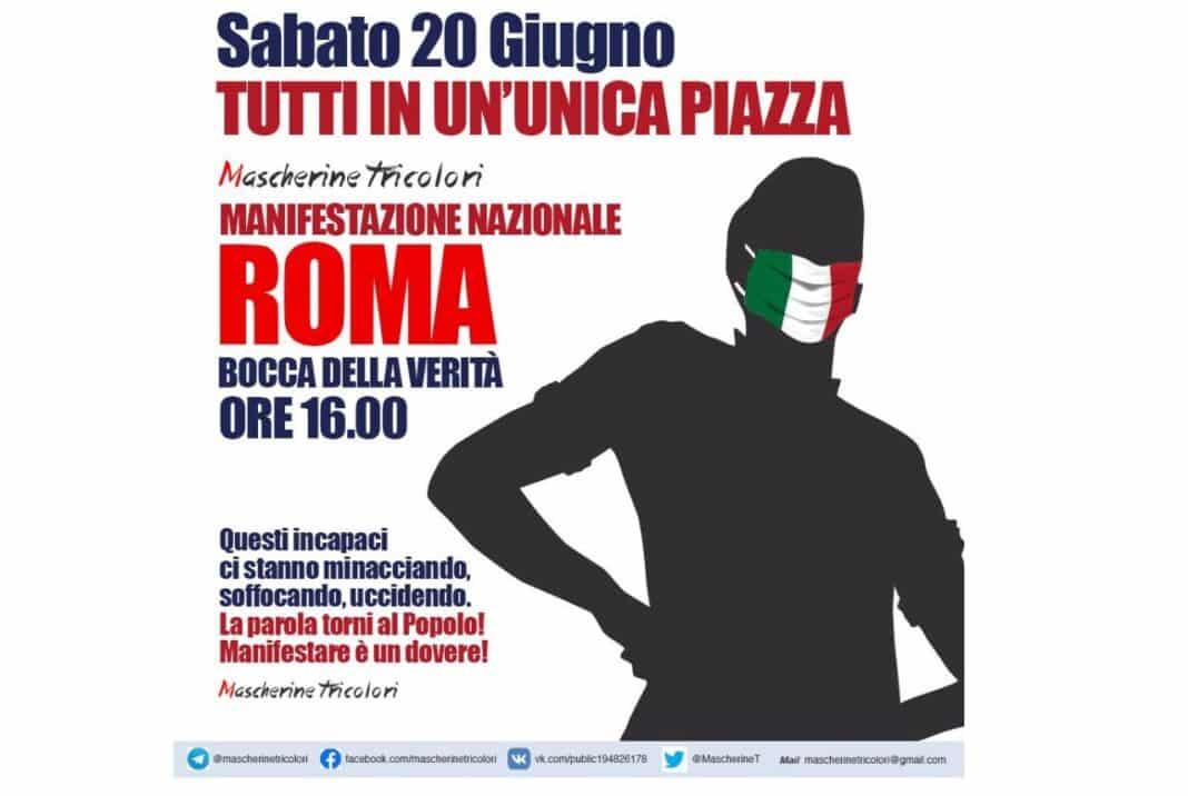 mascherine tricolori, roma