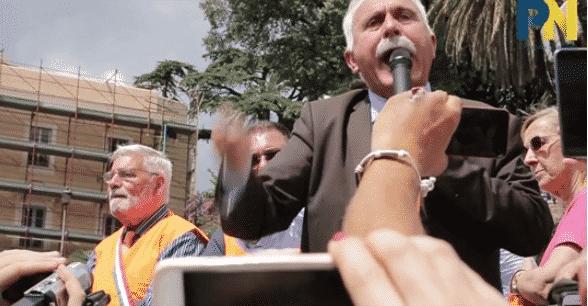 Antonio Pappalardo, discorso in Piazza del Popolo (Video)