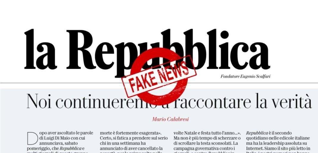 Repubblica fake news