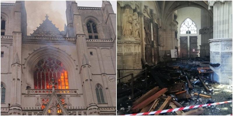 Incendio di Nantes: l'autore del rogo confessa