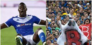Balotelli e tifosi del Boca Juniors