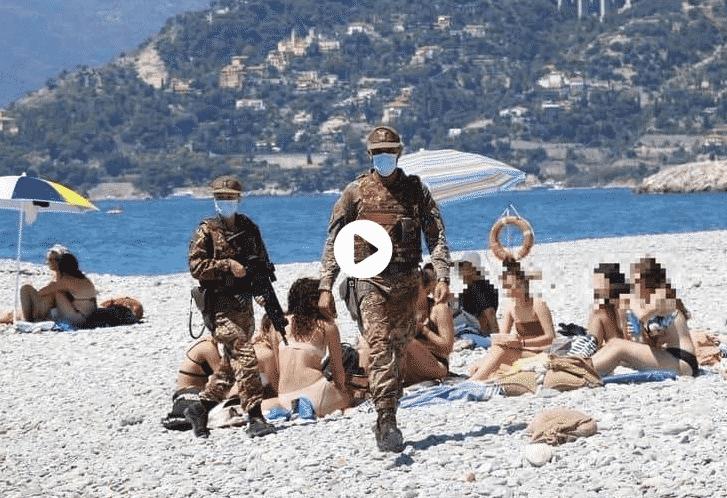 militari spiaggia ventimiglia