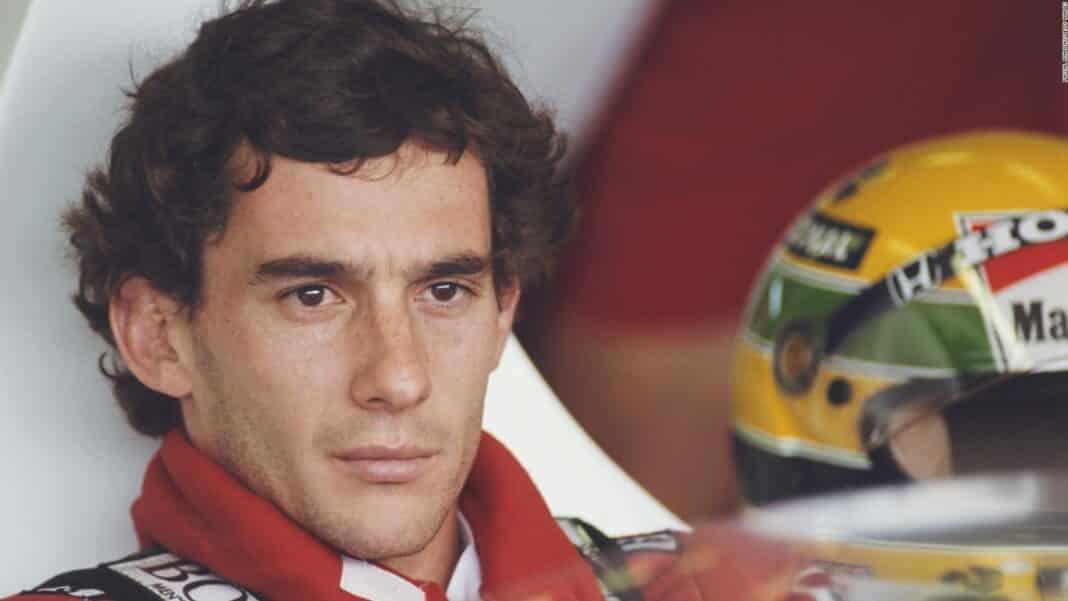 Il pilota Ayrton Senna